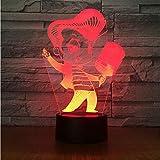 Karaoke Singen 3D Lampe 7 Farbwechsel Led-Licht Acryl Touch Usb Lampe Zimmertisch Nachtlicht Kinder Freunde Spaß Geschenk
