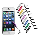 #6: DMG Mini Capacitive Touch Screen Stylus cum dust plug for iPad, iPhone, Galaxy, Smartphones and Tablets Pack of 2