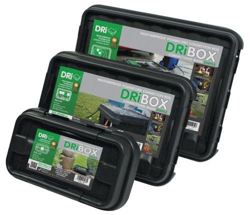 DRiBOX FL-1859-B3 IP55 Kabelschutzbox, wetterfest, Schwarz, 3 Stück