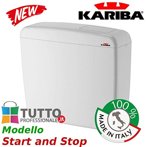 Cassetta universale WC KARIBA SUPER ECO Start and Stop made in italy universale esterna