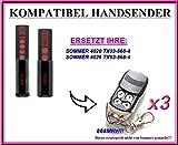 3 X SOMMER 4026 / SOMMER 4020 kompatibel handsender, ersatz fernbedienung, 868.8Mhz rolling code. 3 Stücke für den besten Preis!!!