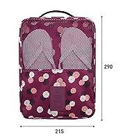 Happy little sheep Travel Portable Portable Wear-Resistant Waterproof Storage Bag Shoe Bag Box (Purple)