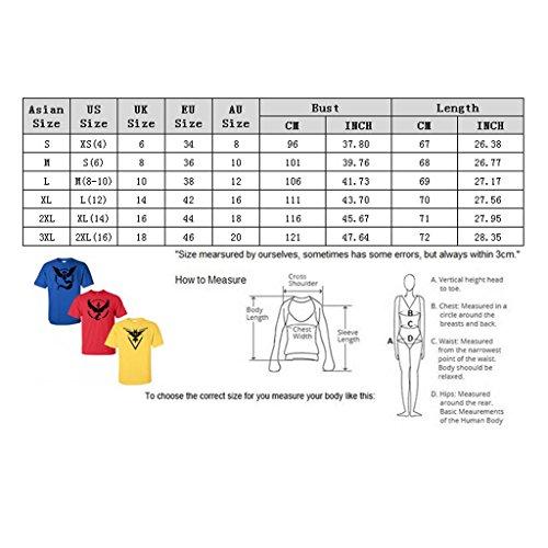 Pokemon Go Team Mystic Instinkt Pokeball T-Shirt Top-Grafik-T-Shirt Blau