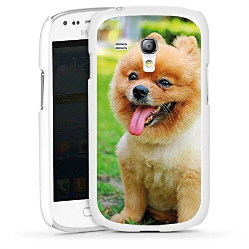Samsung Galaxy S3 mini Hülle Schutz Case Cover Hund Spitz Welpe