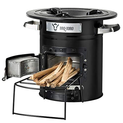 BBQ-Toro Raketenofen Rakete #2 I Rocket Stove für Dutch Oven, Grillpfannen und vieles mehr (Schwarz) Schwarz Rocket