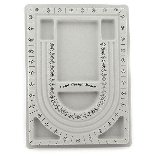 Bacabella 11501 Perlenbrett grau 32,5x23,5cm (1 Stück) Bead Design Board zum Vorlegen und Vorstellen von Schmuckstücken (Bead Design Board)