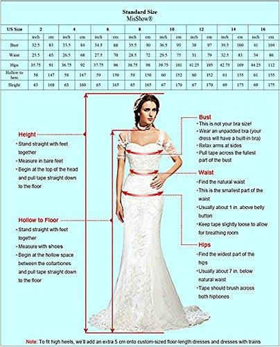 Damen Elegant A-Linie Chiffon Abendkleid Brautjungfernkleid Ballkleid lang 32-46 MisShow Navy Blau