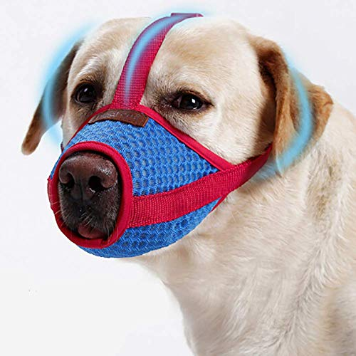 Beaulies Dog Breathable Dog Mouth Cover Prevent Biting Anti Barking Adjustable Net Face (S) (Small Mouth Guard)