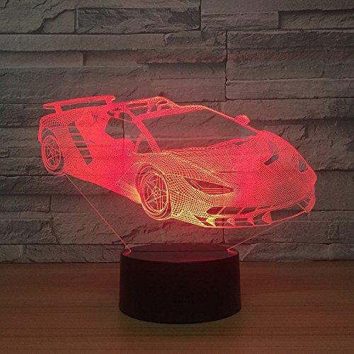 BDQZ Sportwagen Acryl 3d Lampen Kreative Geschenke Neue seltsame Stände Nachtlichter Weihnachtsschmuck Babyzimmer 3d Leuchten