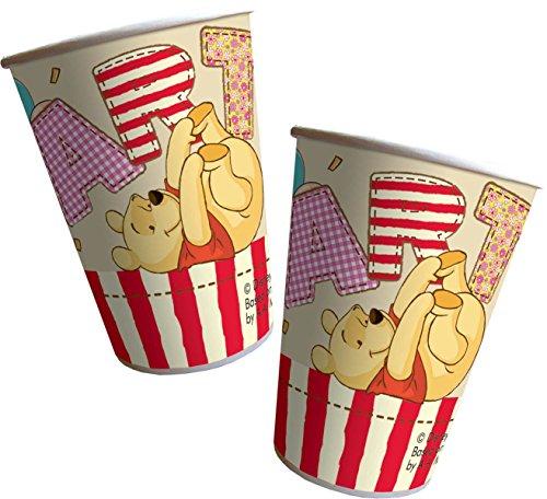 NEU Becher Winnie Alphabet, 200 ml, 8 Stück (Winnie The Pooh Themen Kostüme)
