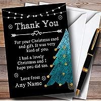 Gesso Albero di Natale vacanza biglietti di ringraziamento/Natale/Capodanno personalizzabile, 40 Invites & Envelopes