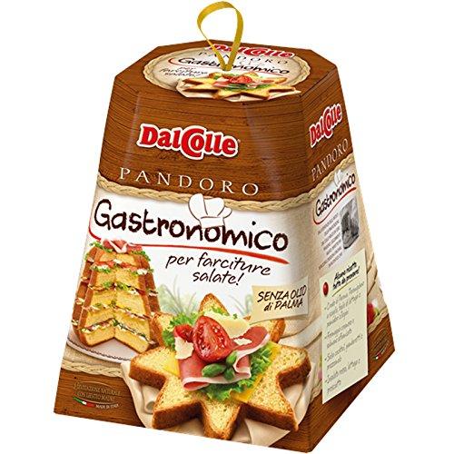 Pandoro gastronomico dal colle salato 750 gr senza olio di palma fette
