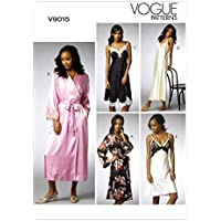 Vogue Patterns V9015 A5 - Patrones de costura para batas y camisones (tallas 6-