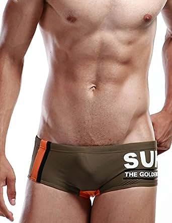 "SEOBEAN Mens Swimwear Boxer Brief SURF pt trunk swim 2249 (XS(25-27""))"