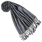 Lorenzo Cana Luxus Seidenschal für Frauen Schal 100% Seide gewebt Damenschal elegant Paisley Muster Ton in Ton 7841077