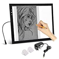 A3 Light Box Light pad With Free carry / Storage Bag. Touch Dimmer 11W Super Bright 96 Daylight LEDS 2 year Guarantee