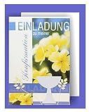 Feste Feiern zur Konfirmation I 5 Teile Einladung Karten Doppelkarten mit Briefumschlägen I Blumen Pokal mehrfarbig I Einladungskarten