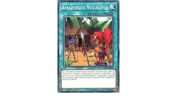 3 x Amazoness Village LEDU-EN014 Common 1st Edition Yu-Gi-Oh Cards