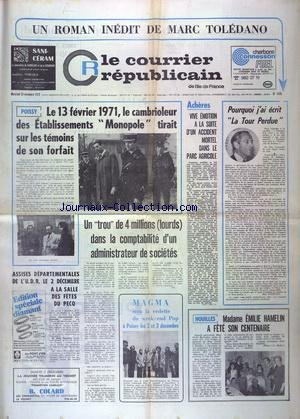 COURRIER REPUBLICAIN (LE) [No 1435] du 29/11/1972