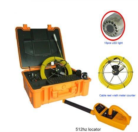 mabelstar 40m Kabel integrierter 512Hz Sender Kanalisation Rohr-Inspektion Kamera System mit Meter Zähler Funktion und 512Hz Locator