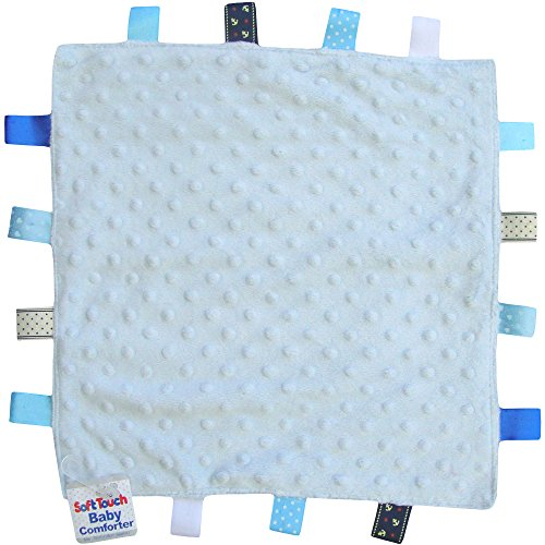 TeddyTs Baby Super Soft Deluxe Comforter Blanket with Satin Ribbons (Blue)