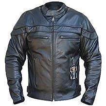 Australian Bikers Gear Chaqueta Sturgis Monza de moto para hombre en cuero con Protecciones TALLA XL