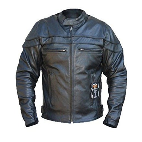 b3d8b7c23 Bikers Gear   The Sturgis   Crusier CE 1621-1 PU Removable Armour CowHide  Leather