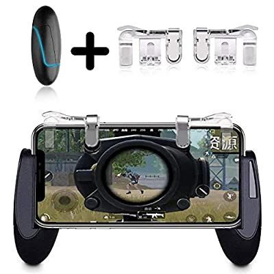 KOBWA 2018 Newest Mobile Game Controllers, PUBG Game pad Handgrip Joysticks Game Controller Sensitive Shoot Aim Buttons L1R1 for Fortnite/Rules of Survival/Knives Out for Android IOS