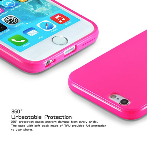 Coque pour iPhone colorée TPU, Silicone, Menthe/vert, iphone /s rose