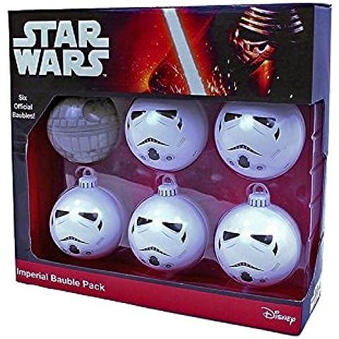 Pack de bolas de Navidad con diseño de estrella de la muerte y soldados imperiales, producto oficial de Star