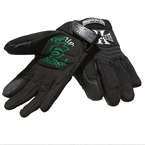 West Coast Choppers Handschuhe Riding Gloves Pay Up Sucker, Farbe:black;Größe:XXL