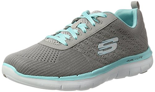 Skechers Flex Appeal 2.0-Break Free, Damen Outdoor Fitnessschuhe,Grau (gylb), 35 EU