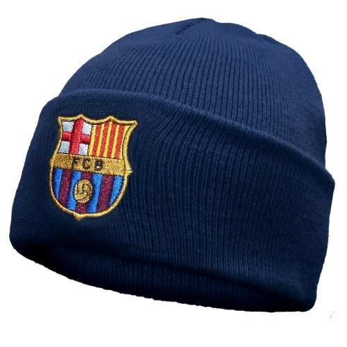 FC Barcelona Official Football Gift Knitted Bronx Beanie Hat Navy (RRP ?9.99!)