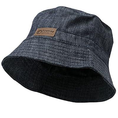 Mens Firetrap Bucket Hat Casual Summer Denim