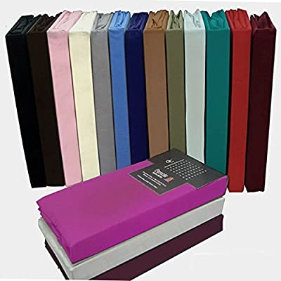 Fitted Sheets Polycotton Bed Sheets Single Double King Size For Upto 8'' Mattress Deep Poly Cotton Bedding