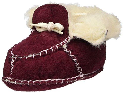 Playshoes - Babyschuhe In Lammfell-optik Zum Binden, Scarpine e pantofole primi passi Unisex – Bimbi 0-24 Rosso (Rot (Bordeaux 9))