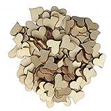 WINOMO 100 Stück Deko Herz Streudeko Hochzeitsdekoration Konfetti Herz aus Holz