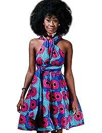 302cad0370b Femmes Robe Africaine Style Ethnique Multi Wear Robe De Tailles  Confortables Soirée Vintage Robes Courtes Multiway vetement Robe…