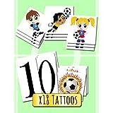 Tatuajes Temporales para niños - Football Pack x18 Tattoos - Calcomanias infantiles fabricadas en España - Tattoos para niños