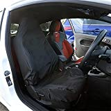 UK Custom Covers SC162B Tailored Waterproof Front Seat Cover - Black