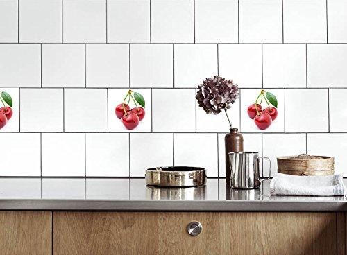 Küche Fliesen Aufkleber Kirsche Vinyl Film Für Badezimmer Wand Fliesen Ideen  Verschiedene Größen   16pcs