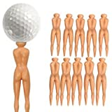 Masione Novelty Nude Nuddie Naked Lady Golf Tees 10Pcs Set