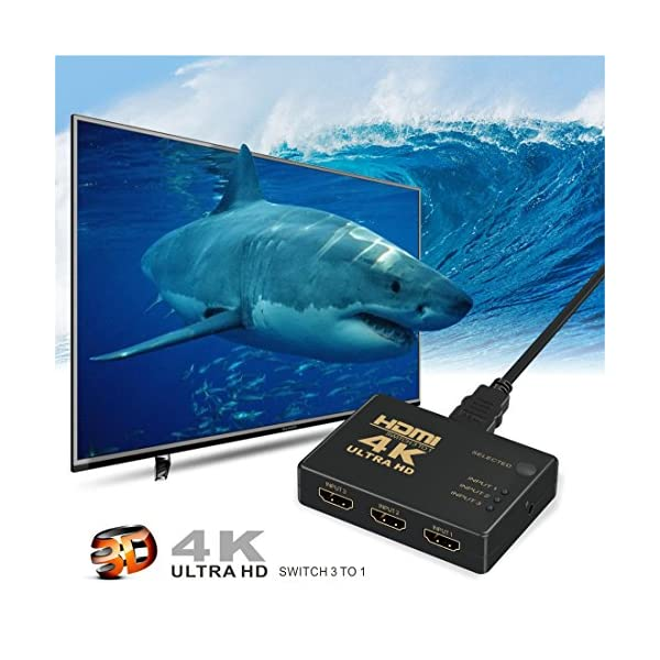 HDMI-Switch-4k-GANA-3-Port-HDMI-Splitter-Cable-Hdmi-Cble-Commutateur-Prend-en-Charge-4K1080P3D-Pour-Xbox-PS3-PS4-Apple-TV-Roku-Fire-TV-Blue-Ray-DVD-Player