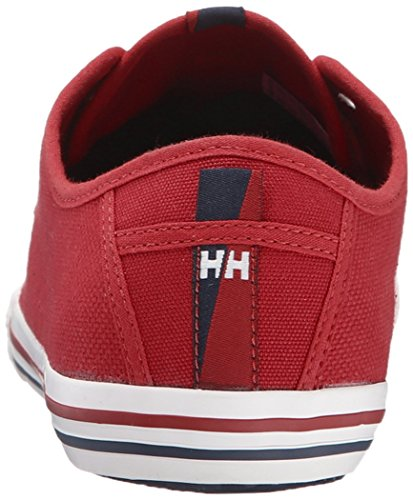 Helly Hansen Herren Fjord Canvas Sneakers Rot, Weiß (110 Flag Red / Off White / Nav)