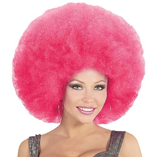 Widmann 04675 Afro Perücke, unisex-adult, pink, One Size (Bunte Afro-perücken)