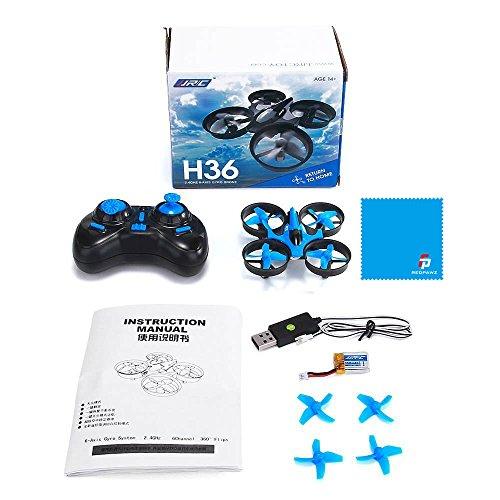 JJRC H36 MINI Drone 2.4G 4CH 6Axis Gyro Headless Mode CF Mode One Key Return RC Quadcopter RTF (Blue)