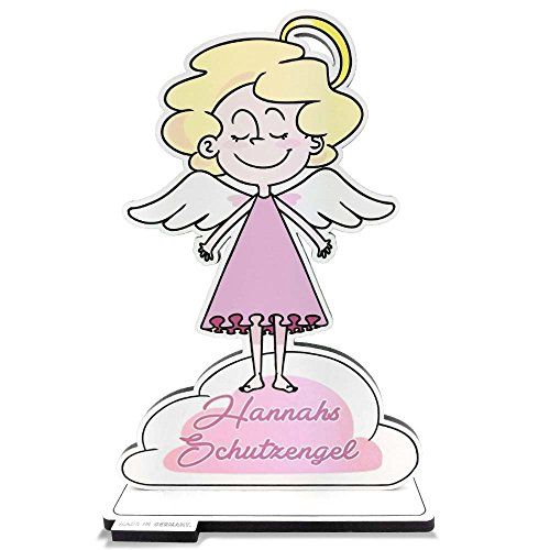 FANS & Friends Doctors Schutzengel mit Namen für Kinder | Mädchen | Schutzengelfigur aus Holz | personalisiert | Geschenk zur Einschulung, Taufe, Geburt