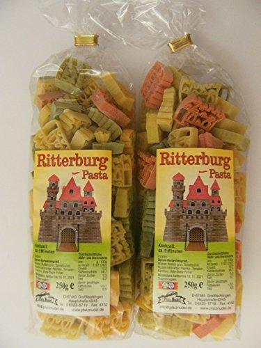 Pfalznudel Streuteile Ritterburg aus Nudelteig, 2X 250 g, Nudeln, Märchen, Pasta, Dekoration, Delikatesse, Ritter
