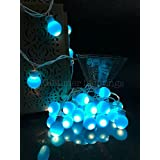 Glimmer Lightings Blue Elegant Small Ball Decoration String Lights Diwali Special Home Decoration Gifts Rice Copper Wire Light Diwali LED Wedding Christmas Party Home Quirky Unique Gifts Copper Wire (Made In India)s