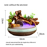 HONIC 110V-220V kreative Wasser-Brunnen-Harz-Keramik Bonsai Aquarium Office Desktop Trübungen Dekor Feng Shui Ornament-Brunnen: A